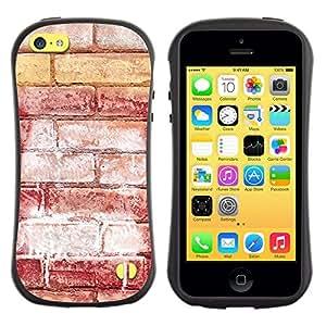 Suave TPU GEL Carcasa Funda Silicona Blando Estuche Caso de protección (para) Apple Iphone 5C / CECELL Phone case / / Brick Wall Red Art Street Grafiti White /