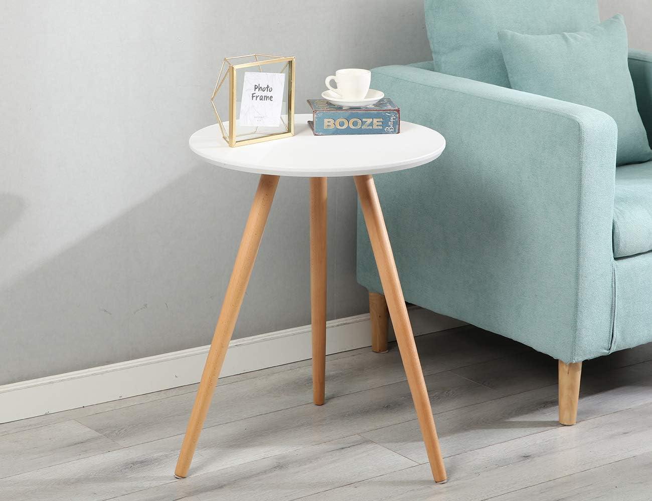- Amazon.com: Nesting Coffee Table Wood Sofa Side Table Small Round