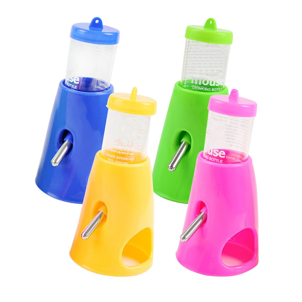 Pevor Multifunctional Hamsters Water Dispenser - Pet Drinking Bottle with Cooling Room All-in-one Detachable Plastic Feeder for Hamsters Rats Guinea-Pigs Ferrets Rabbits Small Animals, Random Color