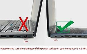 Genuine OEM Original Dell 65W Replacement AC adapter for Dell Inspiron 5551, Inspiron 5555, Inspiron 5558, Inspiron 5755, Inspiron 5758, Inspiron 7348, Inspiron 7558.