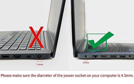 Original Dell 65W AC adapter for Dell Inspiron 13 7000 Series 2-in-1, Dell  Inspiron 15 7000 Series 2-in-1 Touch