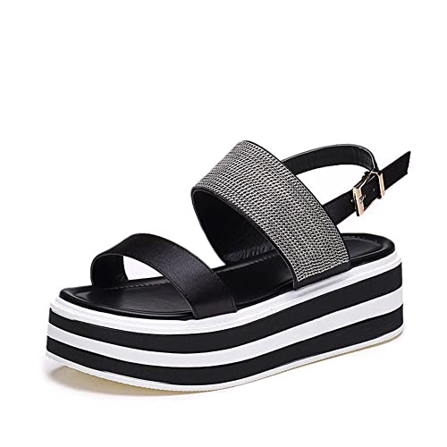 Baviue Leather Outdoor Sandals Women Wedge Sandles