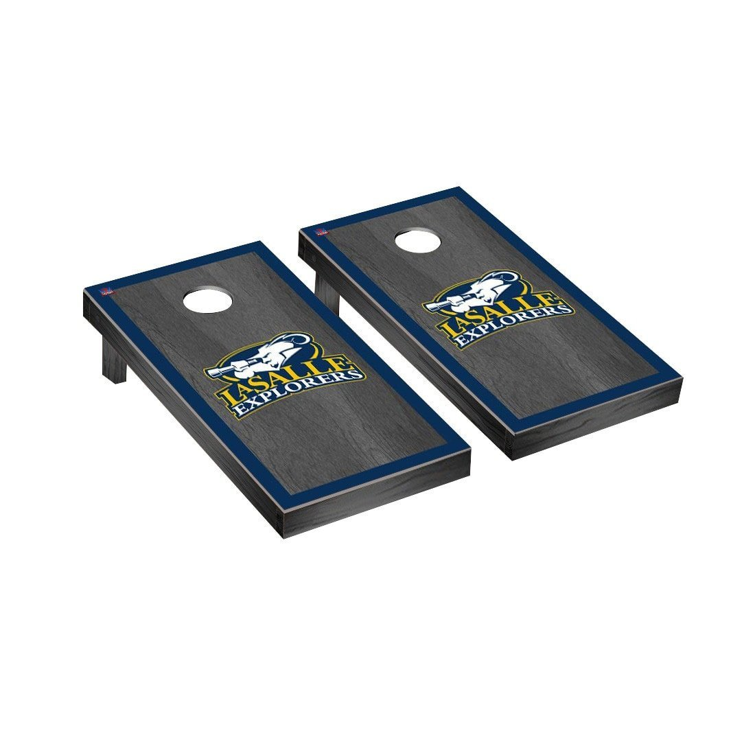 Victory Tailgate La Salle Regulation Cornhole Game Set Onyx Stained Border Version