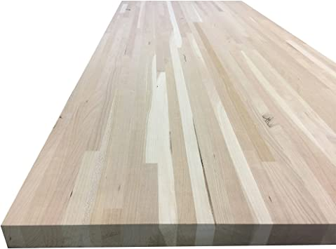 Unfinished Cherry Butcher Block Table Counter Island Top With Square Edge 12 W X 12 L X 1 1 2 Thick Amazon Com