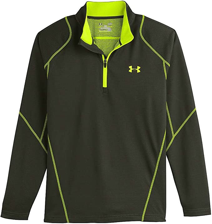NWT Under Armour Quarter-Zip Cold Gear Men/'s Pullover Gray Black Size Xtra Lg XL