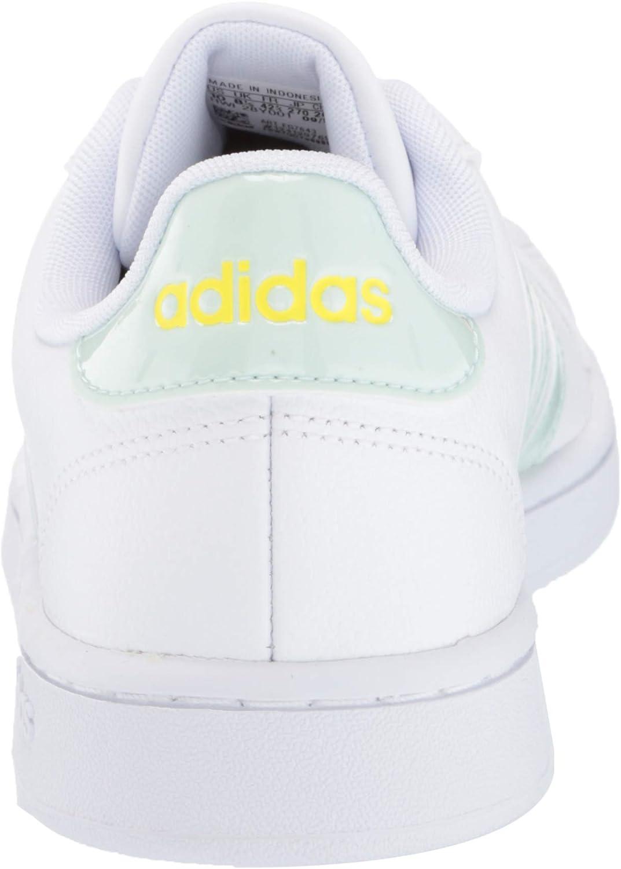 adidas Damen Grand Court Ftwr White Dash Green Shock Yellow
