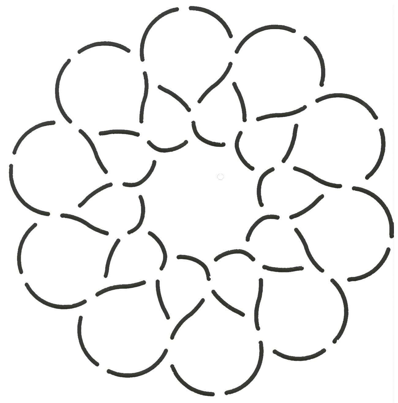 Quilting Creations Circular Petals Quilt Stencil