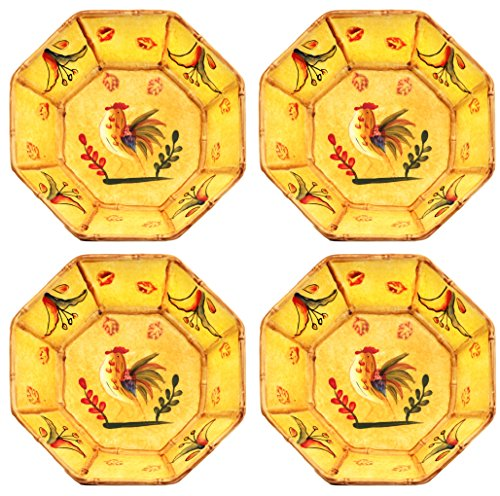 Sunshine Bamboo Rooster Set of 4 Soup Cereal Bowl, 83930-0 By ACK