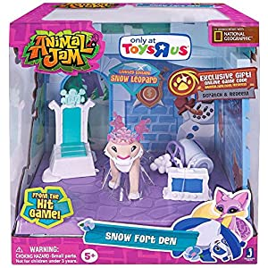 Animal Jam Snow Fort Den Exclusive Playset - 61d2SlixQhL - Animal Jam Snow Fort Den Exclusive Playset by Jazwares