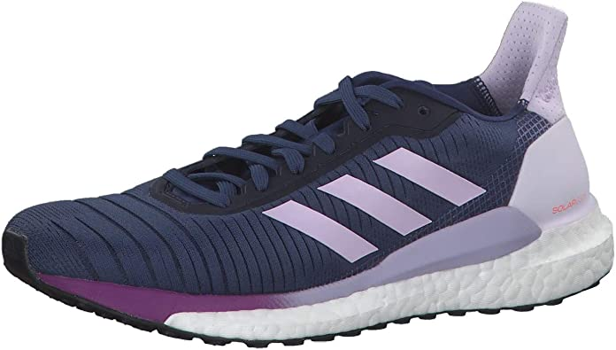 Adidas Solar Glide 19 W, Zapatillas Running Mujer, Tech Indigo/FTWR White/Purple Tint, 45 1/3 EU: Amazon.es: Zapatos y complementos