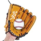 """Webetop Professional Adult Youth Kids Baseball Gloves Left Handed Soft Thicken Durable PU Leather Infield Catchers Mitt Brown 10.5""""/11.5""""/12.5"""""""