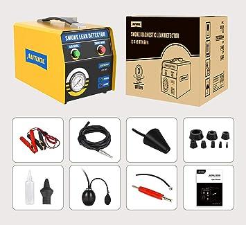 Autool Sdt205 Rauchleckdetektor 2 Modus Kraftstoffleckdiagnosetester Für Kraftfahrzeuge Leckagetester Für Rohrleitungssysteme Evap Lecksucher Für 12 V Fahrzeuge Auto