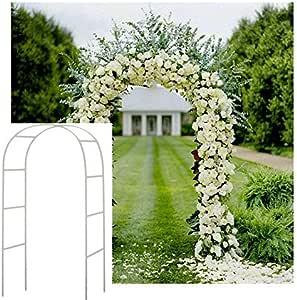 Arco de metal decorativo para jardines, color blanco: Amazon.es: Jardín
