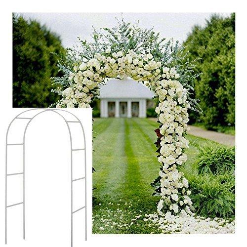 Blanco 2,4 M Metal Arco jardín cenador Planta Rosa Escalada Arco decoración Fiesta de Boda