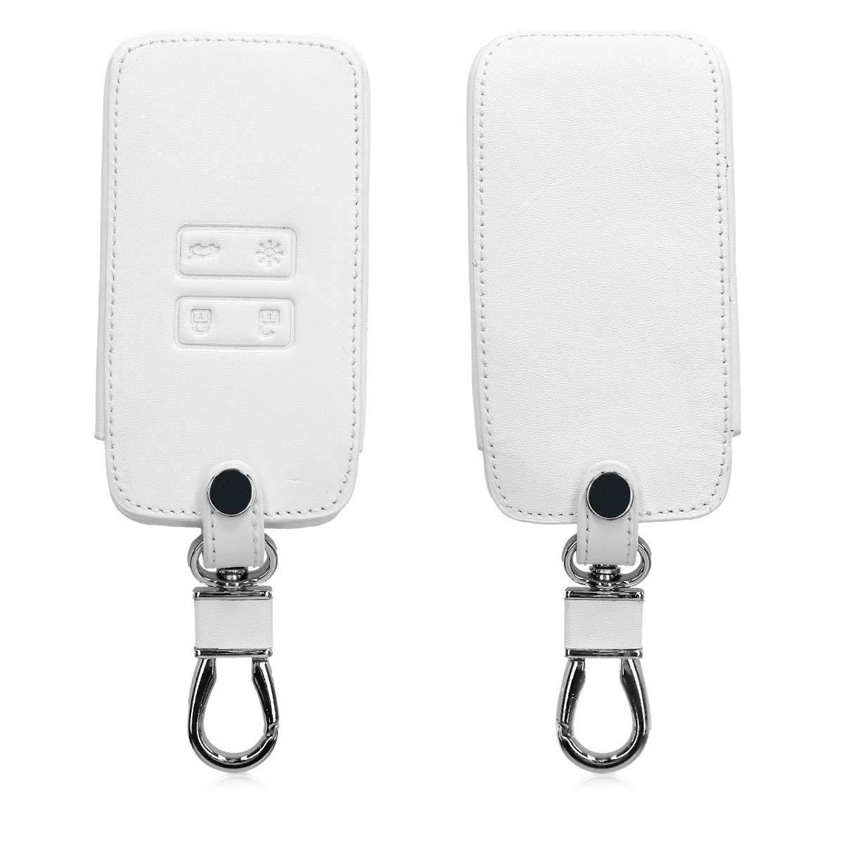 kwmobile Funda para Llave Smart Key de 4 Botones para Coche Renault (Solamente Keyless Go