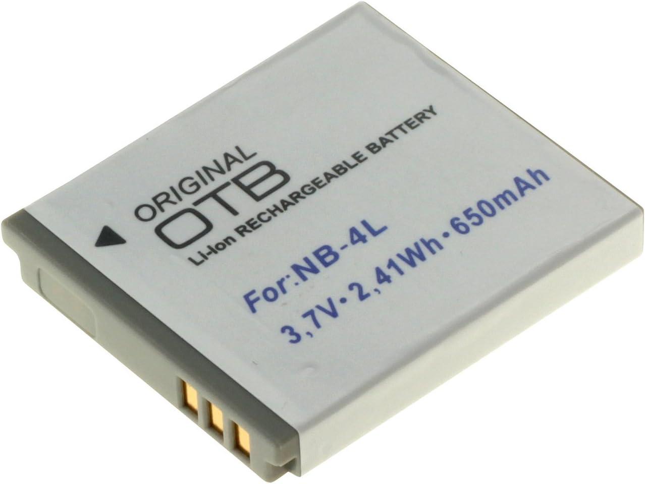 Otb Akku Für Canon Nb 4l Li Ion Schwarz Computer Zubehör