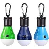 JTENG Campinglampe LED mit Karabiner Tragbare Laterne Zelt Leuchtmittel Zeltlampe Glühbirne Set für Camping, Abenteuer,Angeln