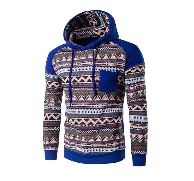 COCO clothing Sudaderas con Capucha Hombre Deportivas Chaqueta College Casual Chulas Rayas Imprimen Pullover Juvenil Hoodie