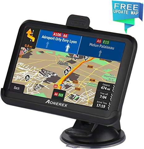 2019 UK EUROPE 5 Inch with Bluetooth GPS Navigation for Car Truck Motorhome Includes Postcodes SLIMLINE SAT NAV + FREE Lifetime Map Updates Speed Camera Alerts /& POI Pre-Installed