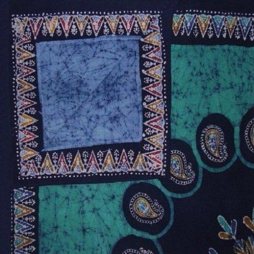 (Homestead Authentic Batik Reversible Duvet Cover Cotton 106