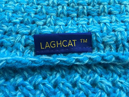 LAGHCAT Mermaid Tail Blanket Crochet Mermaid Blanket for Adult, Soft All Seasons Sleeping Blankets, Classic Pattern (71″x35.5″, Blue)