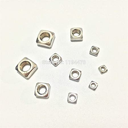 M3//M4//M5-M12 304 Stainless Steel A2 Square Nuts For Metric Screws Bolt DIN 557
