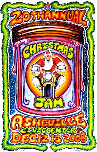 oddtoes concert posters and music memorabilia Christmas Jam 2008 Poster w/Gov't Mule, The Allman Brothers Band, Derek Trucks, Johnny Winter, John Paul Jones + More (Festival)
