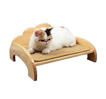Cama de madera para mascotas Cama de gato Sisal mat Redes de cama Primavera y verano