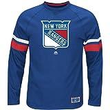 59dfb1a72 Majestic New York Rangers NHL Power Hit Men s Long Sleeve Raglan T-Shirt