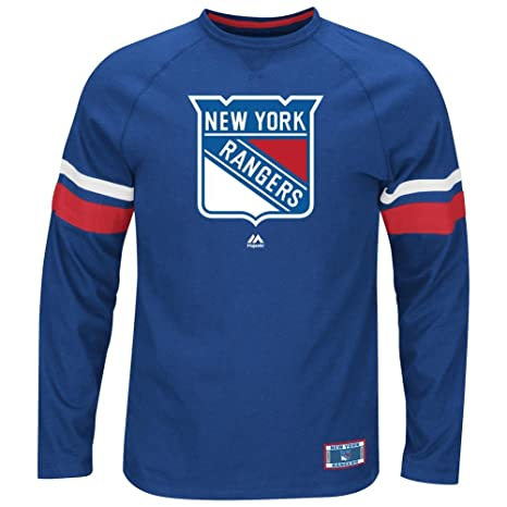 33db89fa5 Image Unavailable. Image not available for. Color  Majestic New York  Rangers NHL Power Hit Men s Long Sleeve Raglan T-Shirt