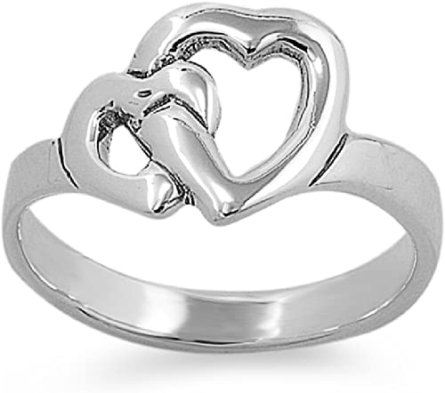 Princess Kylie 925 Sterling Silver Locked Heart Ring