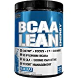 Evlution Nutrition BCAA Lean Energy - High Performance, Energizing Amino Acid Supplement for Muscle Building, Recovery, and Endurance, 30 Servings (Blue Raz)
