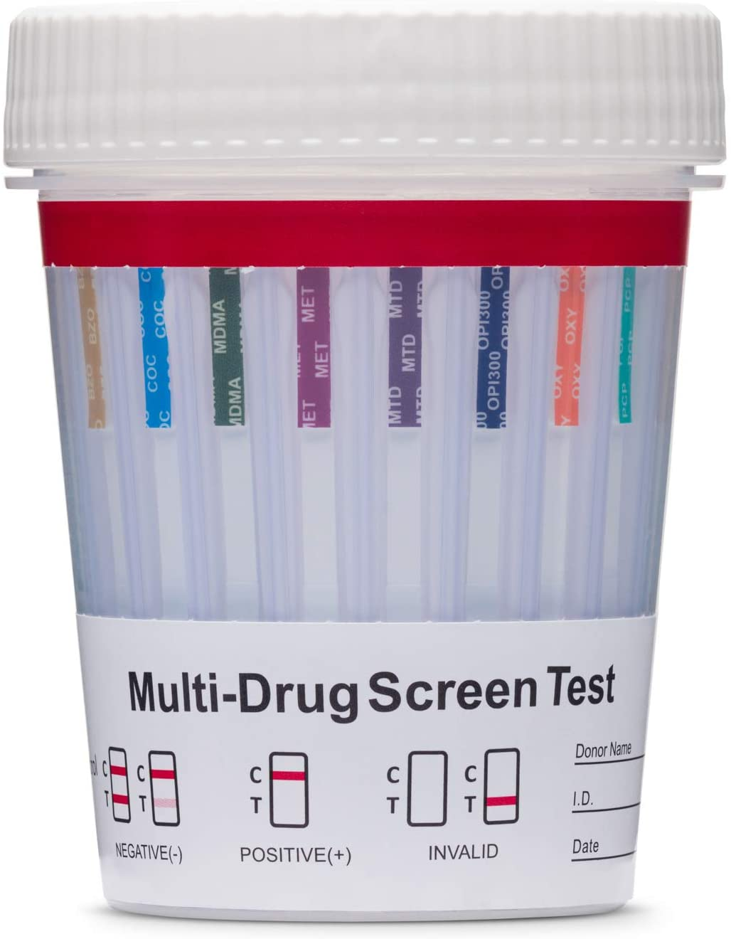 3 Pack - DrugExam Made in USA 12 Panel Drug Test Cup Kit with Temperature Strip-Testing Marijuana THC/AMP/BAR/BZO/COC/MDMA/MET/MTD/OPI/OXY/PCP/TCA. Instant Urine Test.