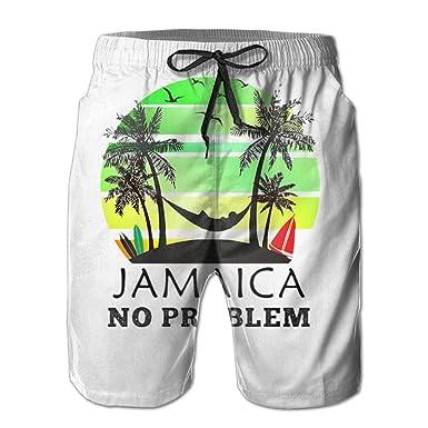 938b05d908 KfjTA Men Coconut Tree Reggae Color Jamaican Quick-Dry Summer Beach Pants  Classic Swim Trunks for Man | Amazon.com