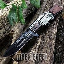 New SPRING-ASSIST FOLDING POCKET ProTactical Limited Edition Elite Knife | Tac-Force Black Wood AK-47 Law Enforcement