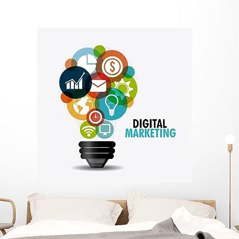 Amazon Com Wallmonkeys Fot 93656305 48 Wm361592 Digital Marketing Design Peel And Stick Wall Decals H X 48 In W 48 48 W Extra Large Home Kitchen