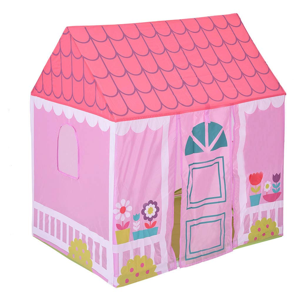 Kids Play Tent Princess Playhouse Castle Tent Birthday Cake Tent for Girls Indoor & Outdoor Kids Play Tent House Toy, Big Enough for 2-3 Little Kids Best Gifts for 1-8 Years Old Kids/boy/Girl