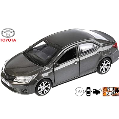 Toyota Corolla Gray Diecast Car Toy Metal Model Die-cast Cars 1/36 Scale: Toys & Games