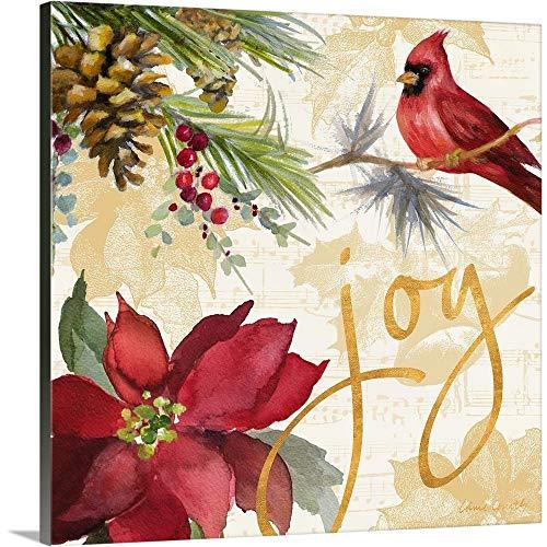 GREATBIGCANVAS Lanie Loreth Canvas Art Print Entitled Christmas Poinsettia I 36 x 36 None