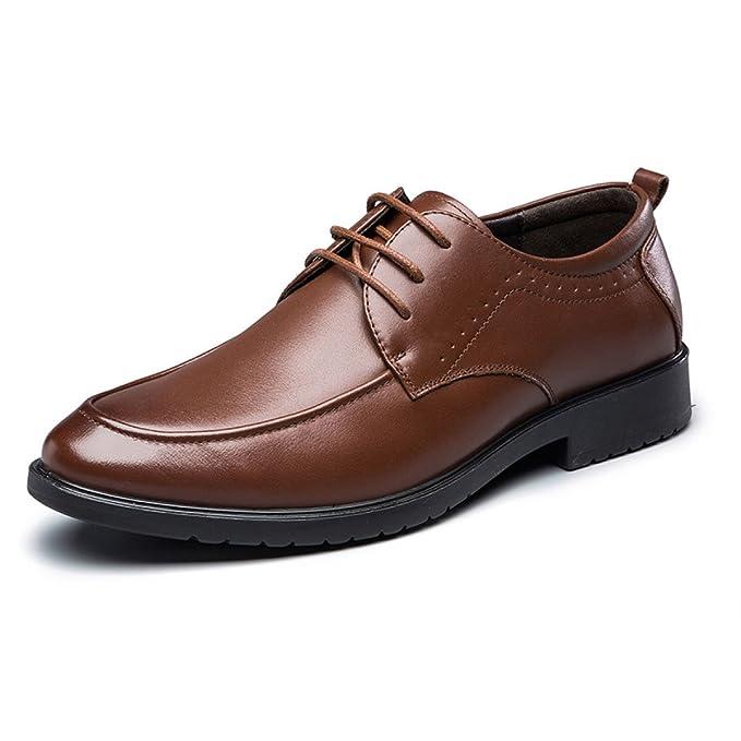 MUYII Oxfords Scarpe Eleganti Per Uomo Uomo Lace Up Plain Toe Business  Formale Scarpe In Pelle Classic Casual Uomo Antiscivolo Scarpe Comode   Amazon.it  ... c35db0f91fa