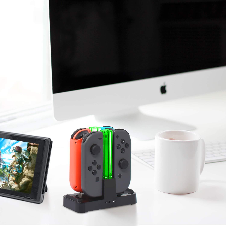 Amazon.com: Cargador para Nintendo Switch Pro Controllers y ...