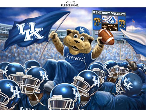 UNIVERSITY OF KENTUCKY FLEECE BLANKET KIT-INCLUDES SOLID AND PRINTED FLEECE TO MAKE AN AWESOME FLEECE THROW BLANKET by Sykel