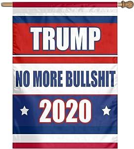 LUENSRO Trump No More Bullshit 2020 Garden Flag Banner for House Yard Decoration 27 X 37 Inch