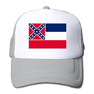 7a01c7dde4b50 ... reduced shinengst flag of mississippi state mesh trucker caps hats  adjustable for unisex ash 8f0f7 7b846