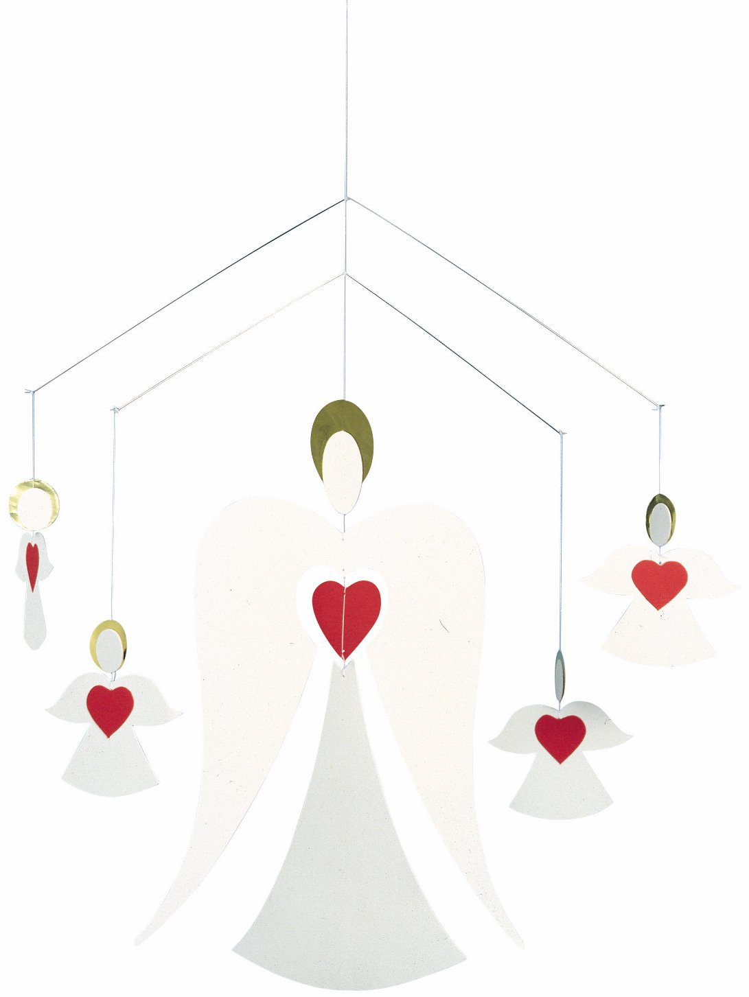 Flensted Mobiles Angel Family Hanging Mobile - 14 Inches Cardboard