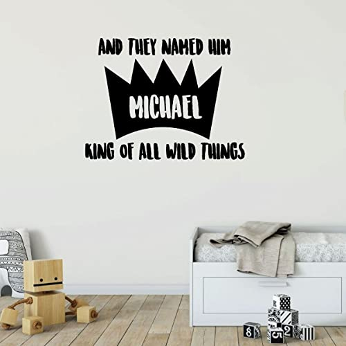 Amazon.com: Personalized Wall Decal For Kids - And they Named Him ...