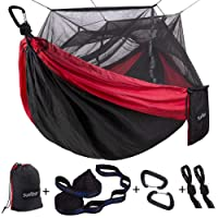 Sunyear Single & Double Camping Hammock with Mosquito/Bug Net Deals