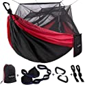 Sunyear Single or Double Camping Hammock with Mosquito/Bug Net