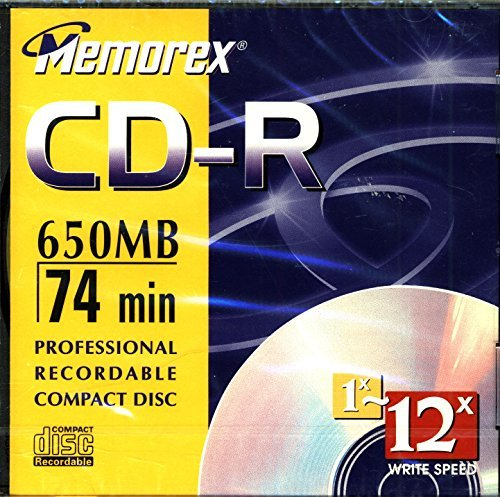Memorex 650MB/74-Minute 24x CD-R Media (Single Disc with Jewel Case) (Discontinued by Manufacturer)
