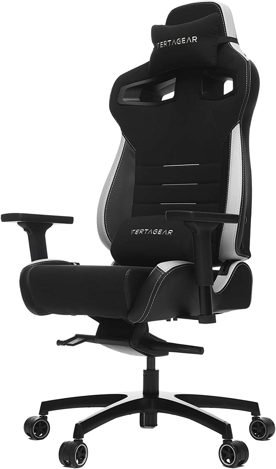 Vertagear Gaming Racing Seat Home Office Computer Coffee Fiber High Back Executive Chairs, Black/White